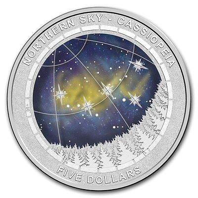 2016 Australia Northern Sky Cassiopeia Curved Domed Silver Proof Coin