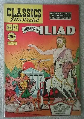 Classics Illustrated  #77 The Iliad By Homer