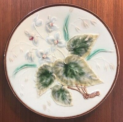 Majolica Flower And Leaves Plate