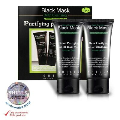 SHILLS 2 x Acne Purifying Facial Charcoal Peel-off Black Mask 50ml (Pack of 2)