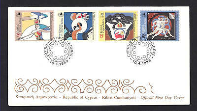 Cyprus 1989 Games Small States Of Europe Official Fdc.disc Javeling Wrestling