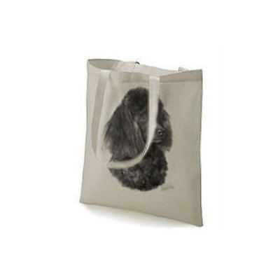Mike Sibley Poodle Design Printed Tote Shopping Bag