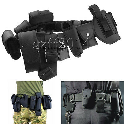 Police Security Guard Modular Enforcement Equipment Duty Belt Tactical  Nylon gz