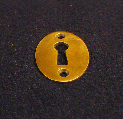 Antique Oval Skeleton Key Hole Escutcheon Cover Plate Mortise Door Lock Brass