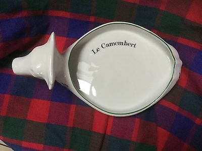 Porcelain Camembert dish from France Cow and violets design