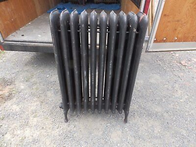 Antique Steam Radiator 10 Sections Cast Iron Old Plumbing Heating 2337-16 (5)
