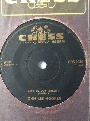 John Lee Hooker Let's Go Out Tonight / I'm in the Mood UK Chess CRS 8039