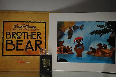 Disney Brother Bear Special DVD PreOrder Pin & Lithograph Portfolio ONLY  SJ 91F