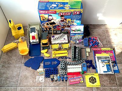 Huge Rokenbok Mixed Lot Crane Parts Figures Loader Keys Base Building System