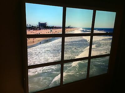 Video Wall  5'x4' Color Wave View Huntington Beach Pier Vie 9 Monitor LCD Used.