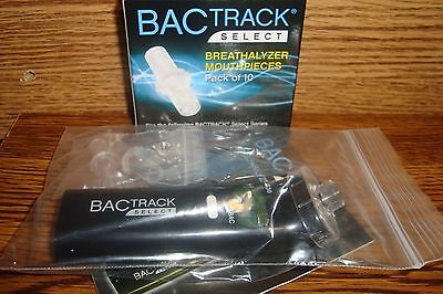 #1 BAC Track Select  S30 Breathalyzer Alcohol Tester & #12 Mouthpieces
