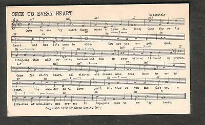 Tune-Dex performing rights info card- Once To Every Heart- Mickey Stoner