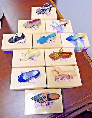 Just The Right Shoe by Raine, Lot of 11 w/Boxes- Lot 1