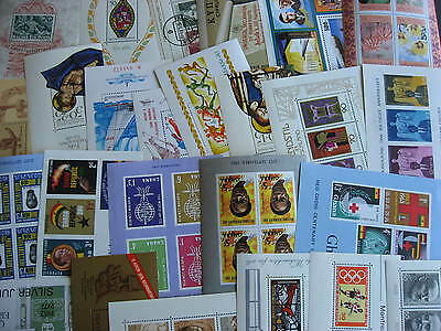 Worldwide 25 different MH, MNH souvenir sheets, interesting group here!
