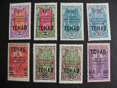 CHAD Sc 51-9 (no 57) MH white spots are album page adhesions check them out!