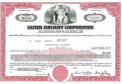 United Aircraft Stock Certificate