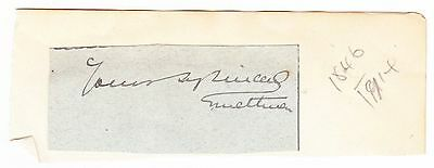 FILED MARSHAL METHUEN , vintage signature cliiped from letter #02