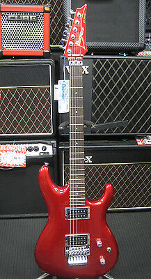 Ibanez JS1200 Joe Satriani Electric Guitar (Red) with Hard Case & Cube-01 Amp