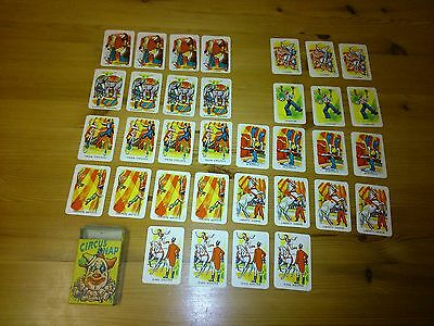VINTAGE 1950's CARD GAME CIRCUS SNAP IN BOX