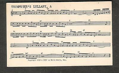 Tune-Dex performing rights info card- A Trumpeter's Lullaby- Leroy Anderson