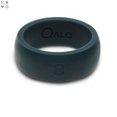 Qalo Men's Athletics Silicone Ring Sz 11 - Slate Grey