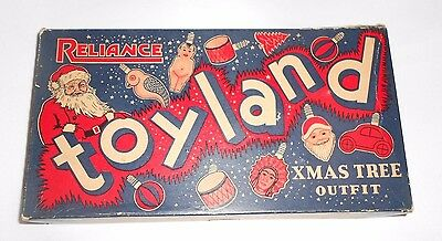 Vtg Reliance Toyland Christmas Lights Empty Box Only for Figural Light Bulbs