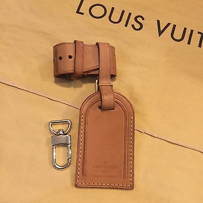 Authentic Louis Vuitton Vachetta Leather  Luggage Tag Clip