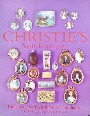 Christie's 19th Objects of Vertu, Miniatures and Icons 5 December 2000 London
