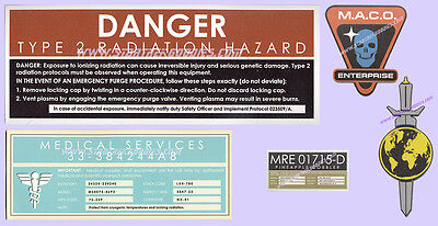 FIVE MAGNETS of Star Trek: Enterprise SCREEN USED ARTWORK from Signs & Stickers!