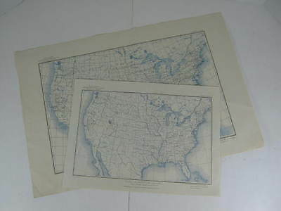 Lot of 2 US Geological Survey Maps of the United States