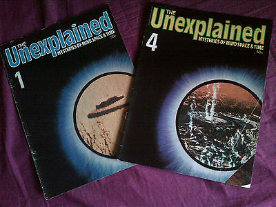 The Unexplained - Mysteries of mind, space & time. Issues 1 & 4.
