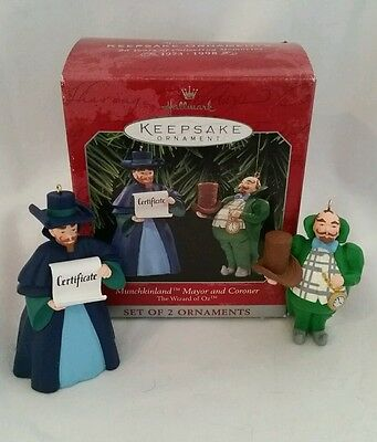 Hallmark Keepsake Ornament, Munchkinland Mayor & Coroner, 1998