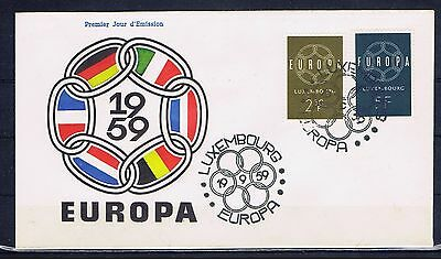 LUXEMBOURG - Europa CEPT 1959 - FDC  - Sept 19, 1959