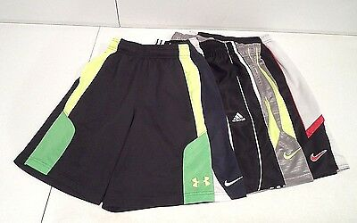 Lot of 5 Nike & Under Armour Boy's Shorts Size Small Basketball Athletic Adidas