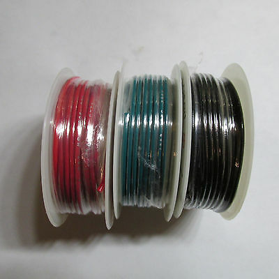 22 AWG Gauge Stranded Hook Up Wire Black, Red and Green 25ft of each