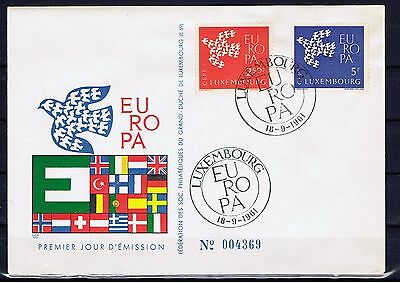 LUXEMBOURG - Europa CEPT 1961 - FDC