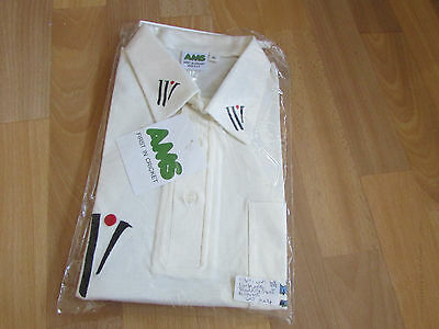 Nick COOK Player Issue 1980's  ENGLAND Cricket AMS XL Training Shirt NEVER WORN