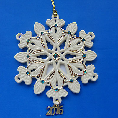 Lenox 2016 Annual Gemmed Snowflake Ornament