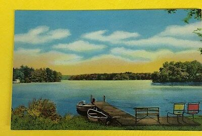 Vintage postcard; Genuine Curteich Chicago; number 107;  photochrome; lake scene