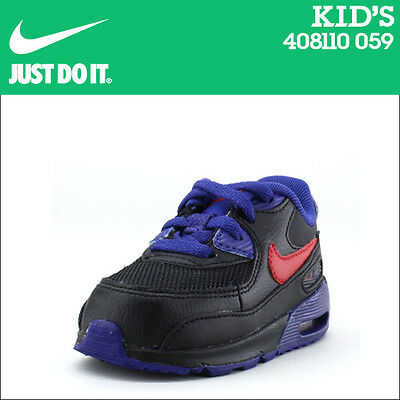 New Kids Baby Infant Boys Nike Air Max 90 Leather Trainers Shoes UK Size 8.5