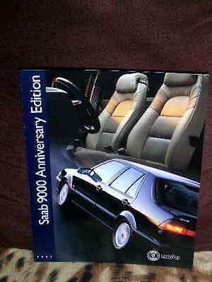 1997 Saab 9000 Anniversary Brochure Pull Out 6 Pages In Excellent Condition.