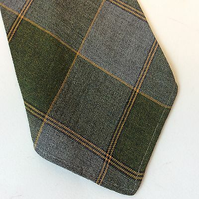 Vintage Original 1940's green  and grey tartan check  tootal  tie