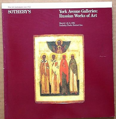 RUSSIAN WORKS OF ART RUSSIAN & GREEK ICONS Sothebys Auction Art Catalog 5 1981