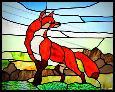 Stained Glass 'The Cunning Fox' Unique Hand Crafted Limited Edition Christmas