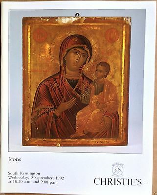 Christie's Catalog ICONS Russian, Greek Icons 9 September 1992 London