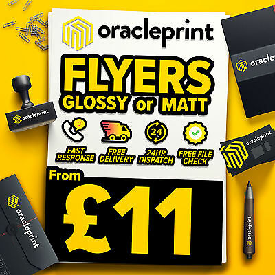 Flyers / Leaflets Glossy or Matt ~ FROM £11 ~ A4 / A5 / A6 / DL / A7 / A8