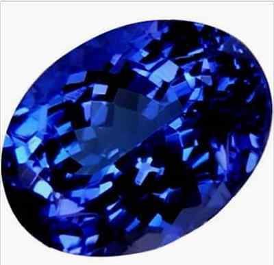 14.53ct Top Blue Tanzanite Unheated 13X18mm Oval Shape AAAA+ Loose Gemstone