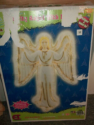 "VTG 1995 Empire Lighted 33"" CHRISTMAS Nativity Angel Wall Hanging Blow Mold 1658"