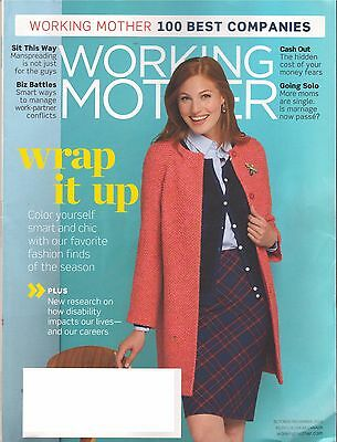 7 Issues of Working Mother Magazine - August 2014 - Nov 2016