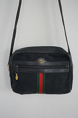 Authentic GUCCI Canvas Cross Body Satchel Bag Italy